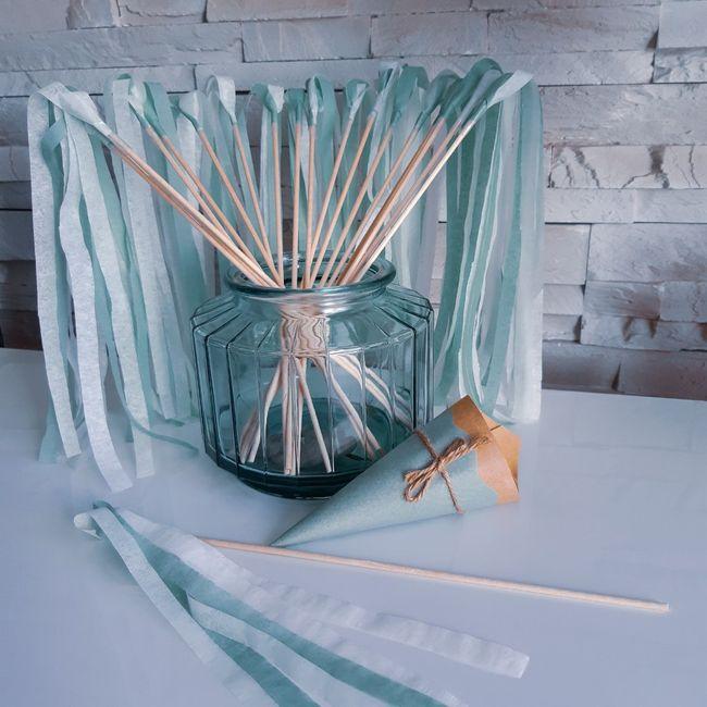 Décoration fait main fleurs en papier de soie 2