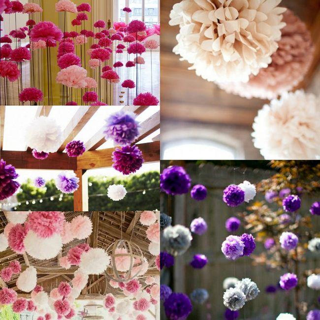 Décoration fait main fleurs en papier de soie 3