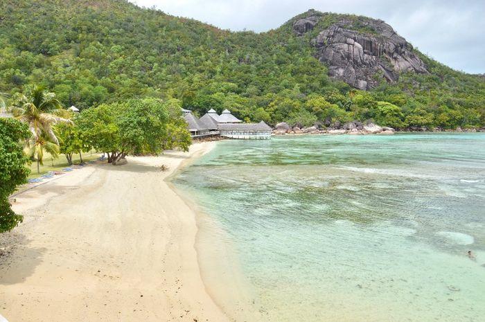 la plage de la réserve