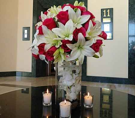 bouquet lys de rose