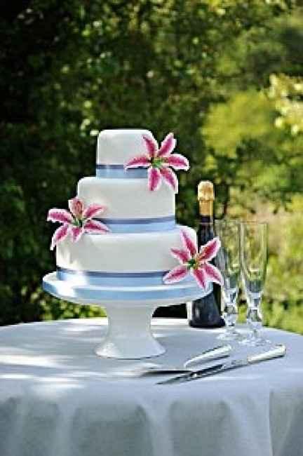 weeding cake blanc et rose