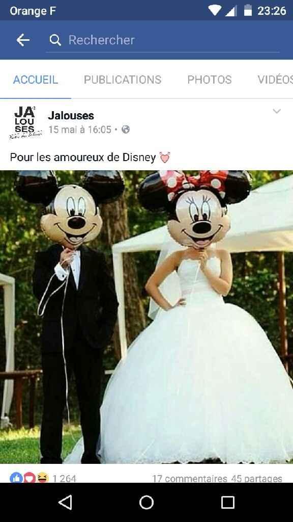 Pour les mariées fans de disney - 1