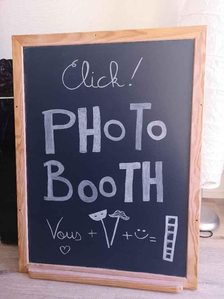 diy terminé ! Panneau Photobooth - 1