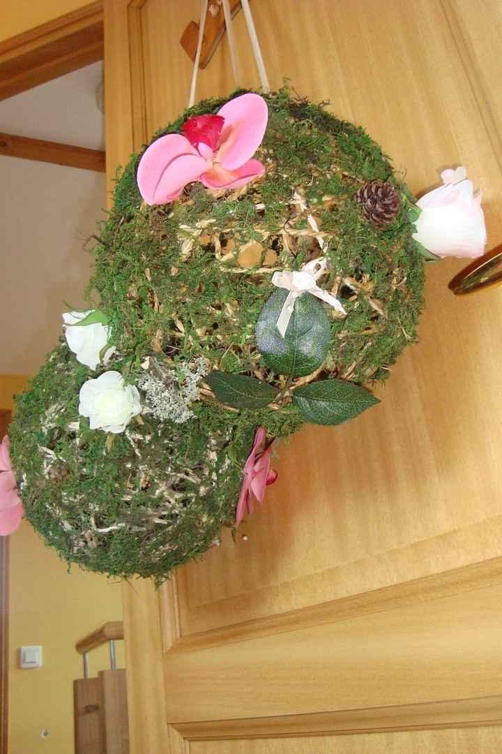 boule de ficelle fleurie