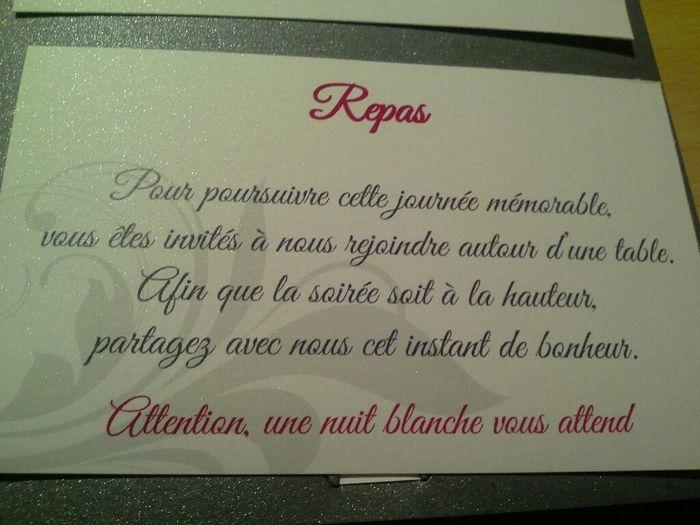 Texte d'invitation repas mariage original
