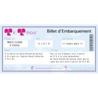 faire part carte d'embarquement