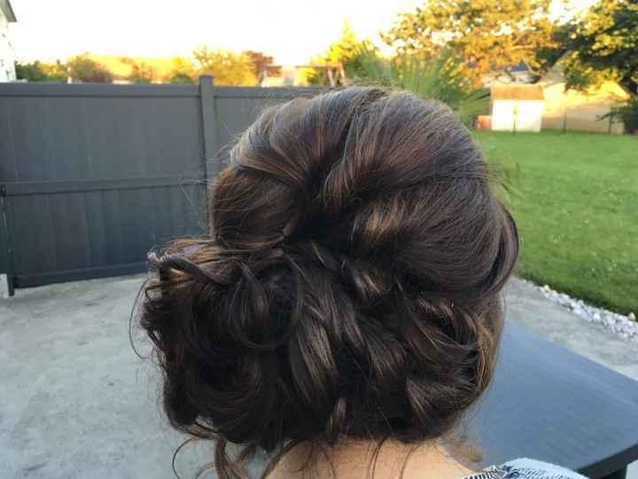 Mon dernier essaie coiffure à 17js du mariage - 2