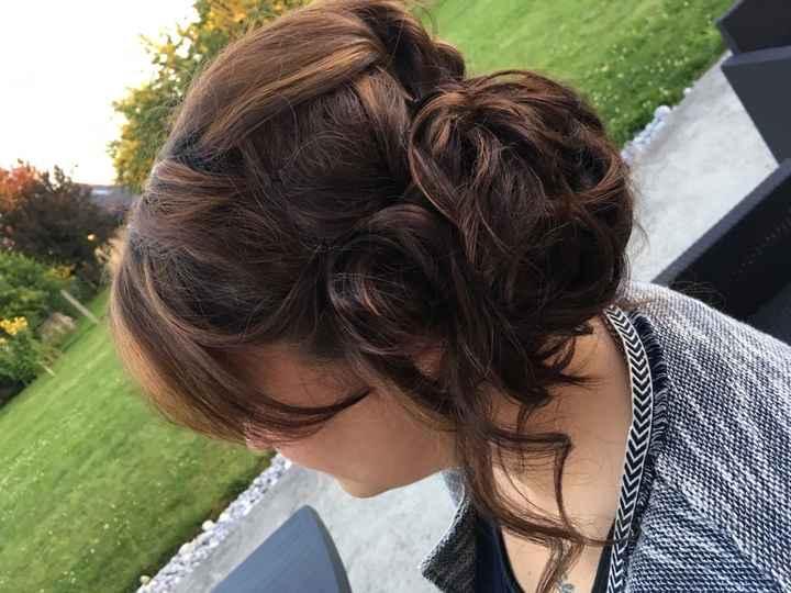 Mon dernier essaie coiffure à 17js du mariage - 3