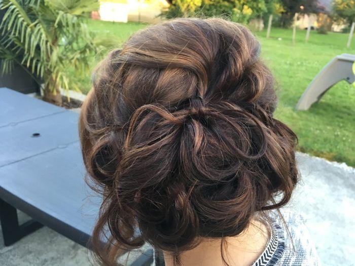 Mon dernier essaie coiffure à 17js du mariage - 4