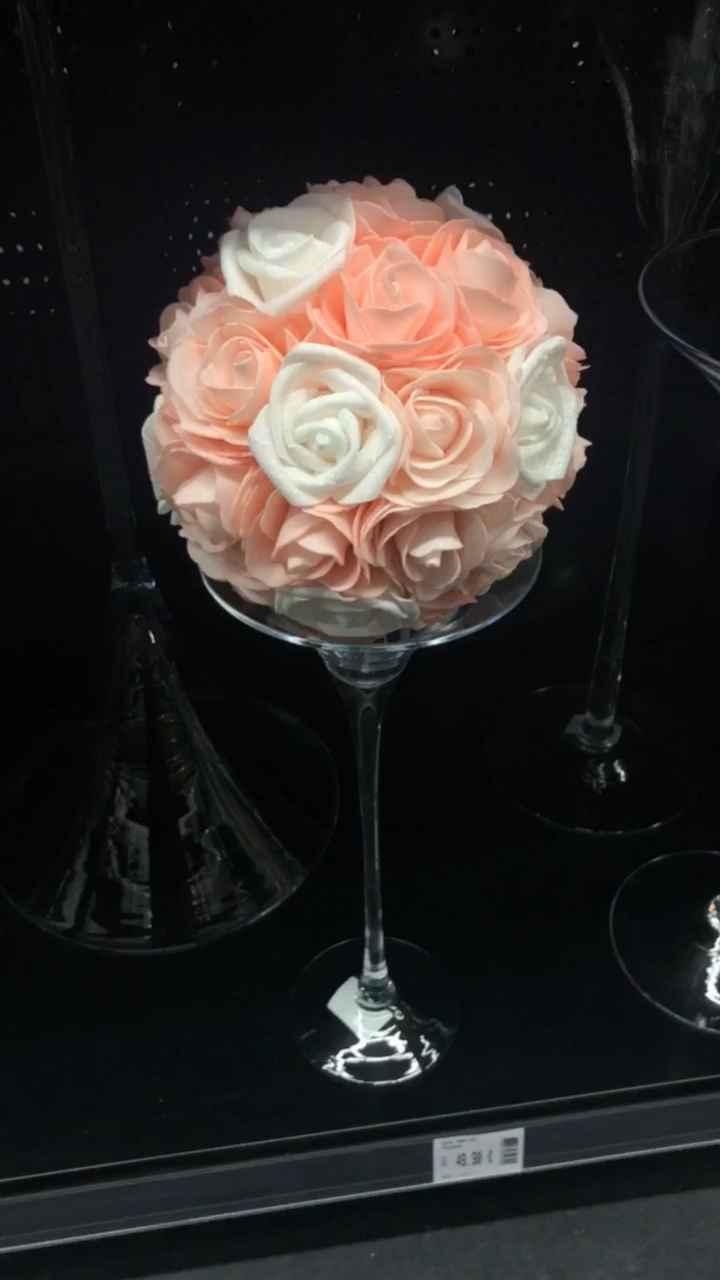 Décoration tables avec vases martini - 1