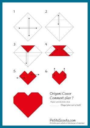 Diy : coeurs en origami - 1