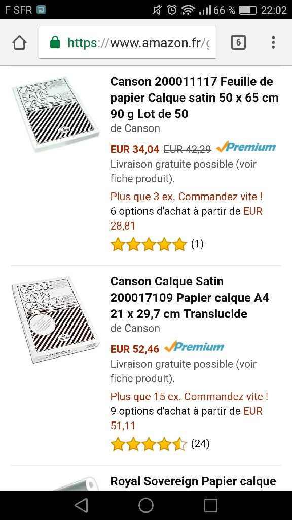 Papier calque 90g introuvable? - 1