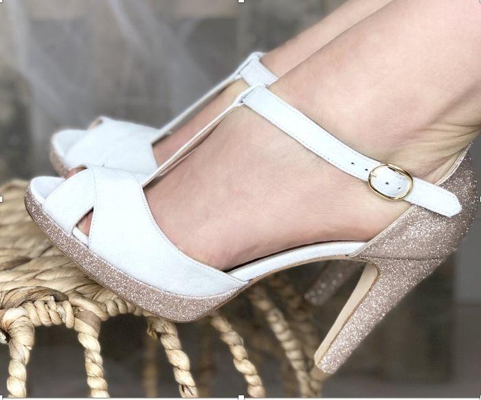Chaussures Blanches ou Vieux rose, mon coeur balance 2
