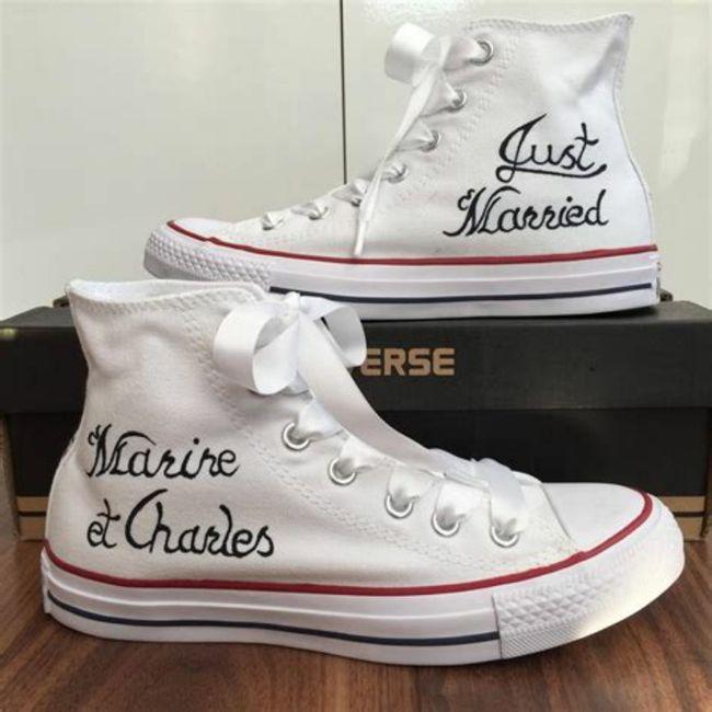Mariée en chaussures plates 2