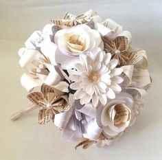 bouquet papier