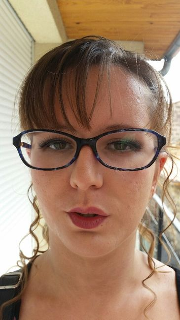 Exemples maquillage pour yeux vert/marron - 1