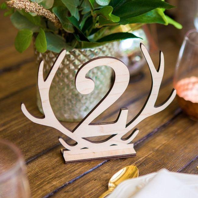 Numéro/Nom de table mariage 12