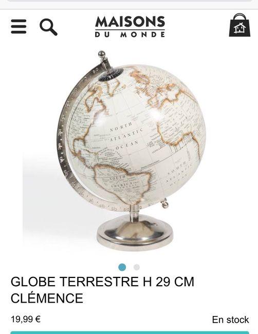 Urne globe terrestre - 1er achat - 1