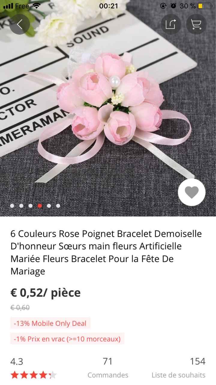 Avis bracelet fleuris - 1