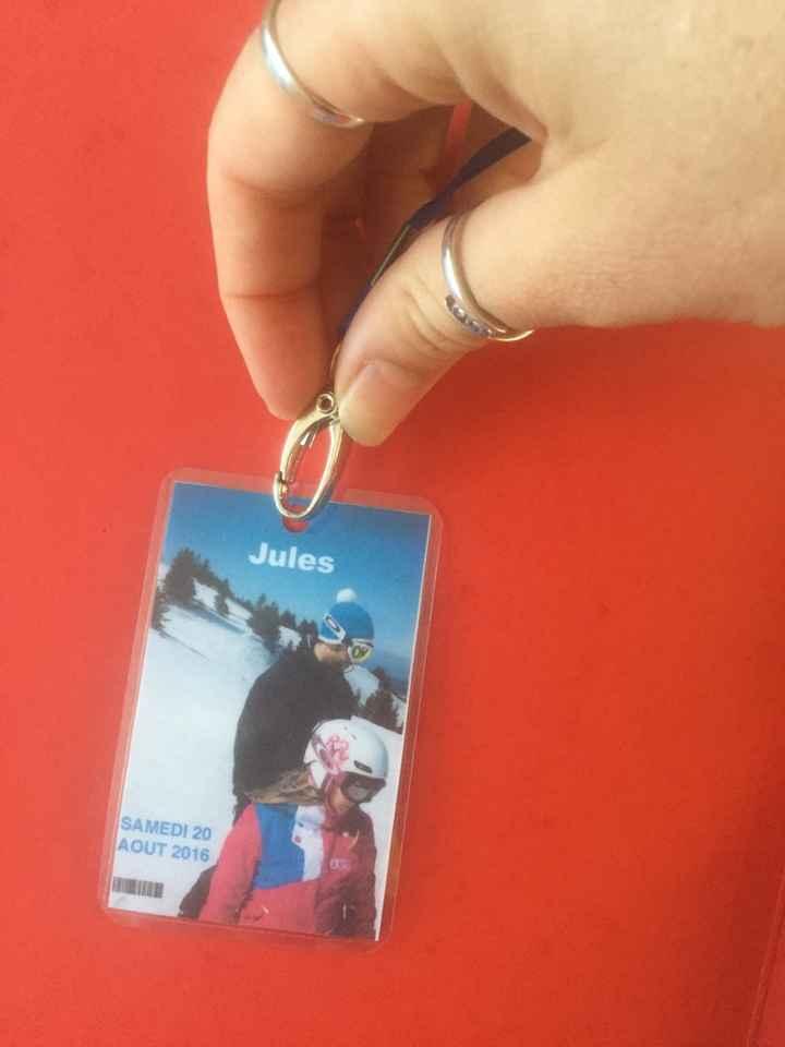 Mariage thème hiver: mes escorts cards forfait de ski - 1