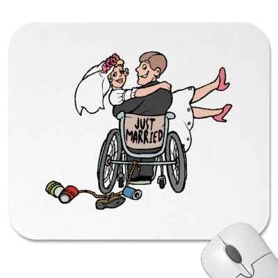Un beau mariage en fauteuil!