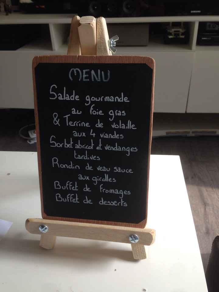 écriture des menus - 1