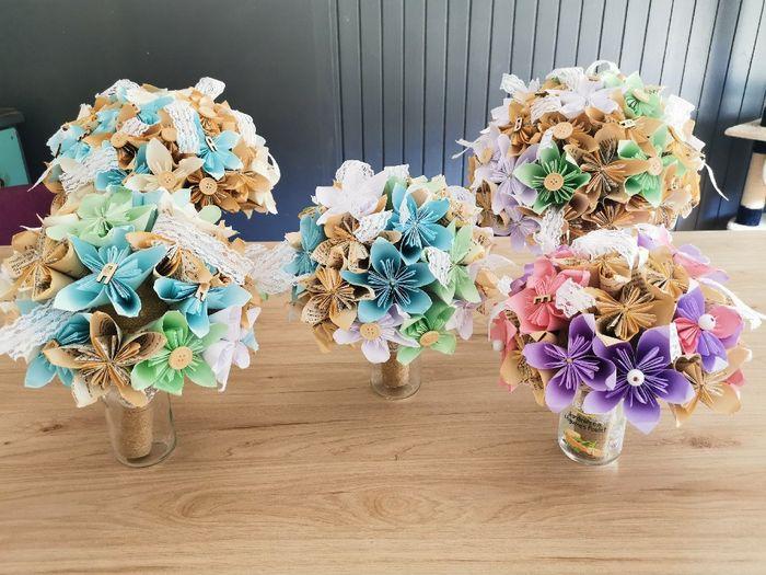 Bouquet de Mariée origami 4