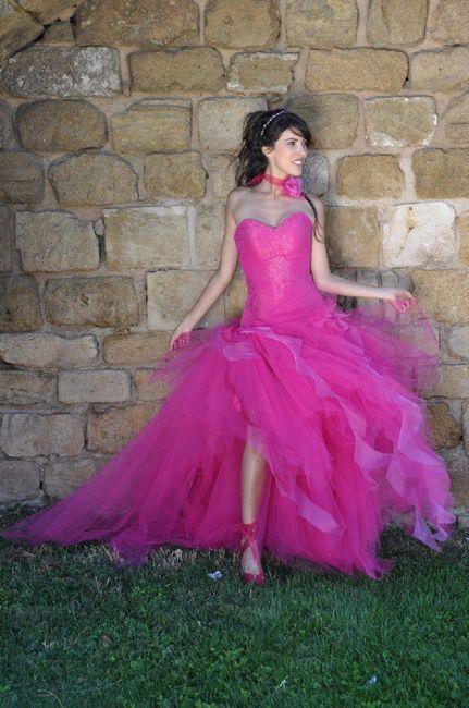 Robes de mariée rose ❇️ 1
