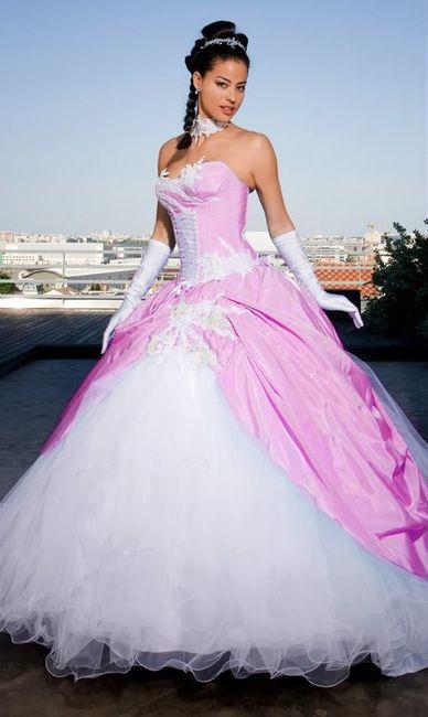 Robes de mariée rose ❇️ 2