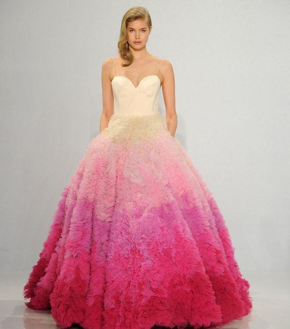 Robes de mariée rose ❇️ 5
