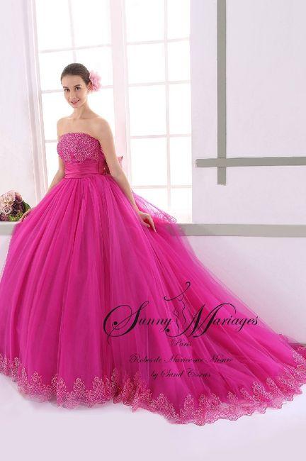 Robes de mariée rose ❇️ 7