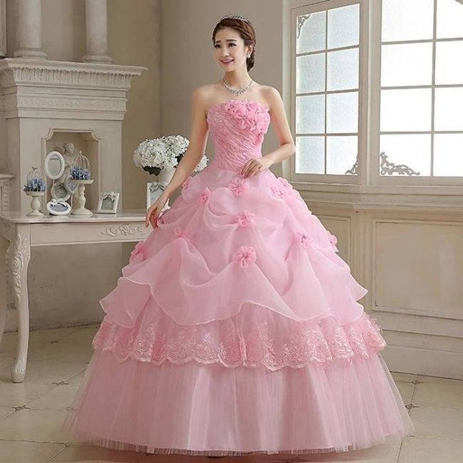 Robes de mariée rose ❇️ 9