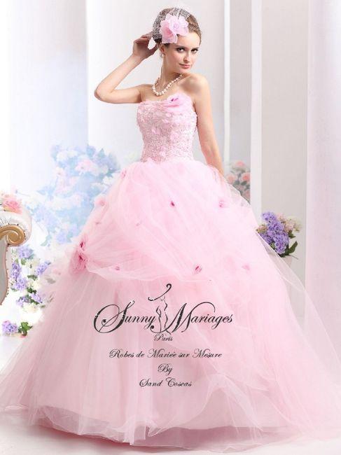 Robes de mariée rose ❇️ 10