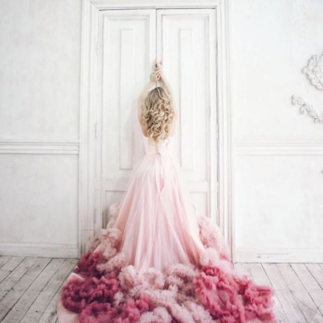 Robes de mariée rose ❇️ 11