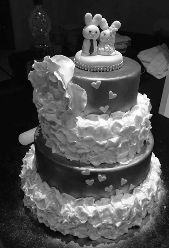 Home made wedding cake