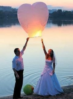Lanterne volante pour mariage