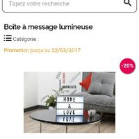 promotion bo te lumineuse page 2 d coration forum. Black Bedroom Furniture Sets. Home Design Ideas