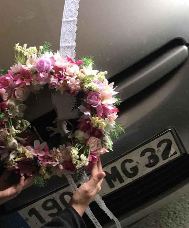 diy deco voiture des mariés - 1
