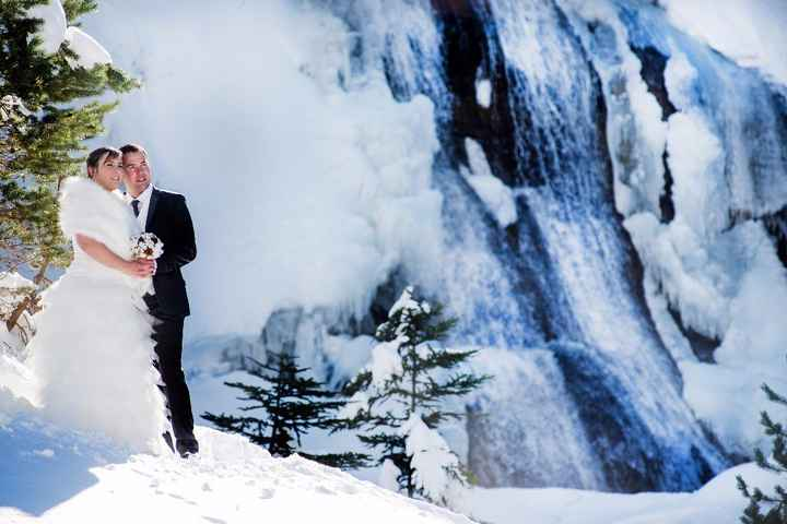 Seance photo à la  neige