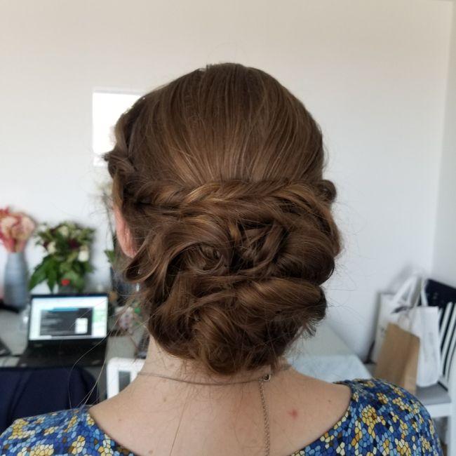 Longueur cheveux & chignon 6