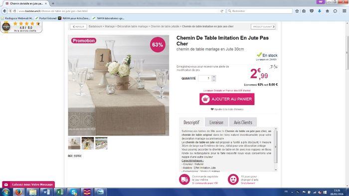 Chemin de table imitation toile de jute pas cher - Chemin de table toile de jute pas cher ...