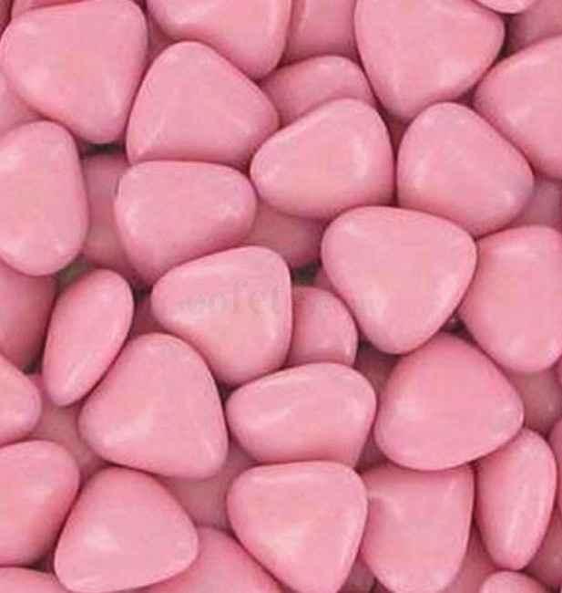 Dragées coeur rose en chocolat