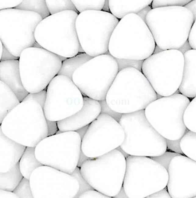 Dragées coeur blanc en chocolat