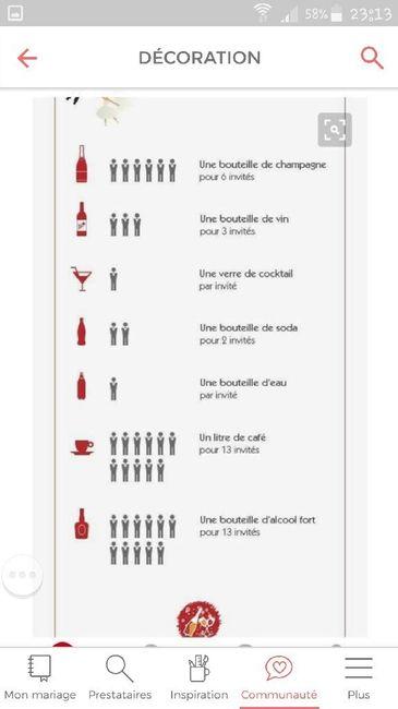 Budget et quantité alcool 1