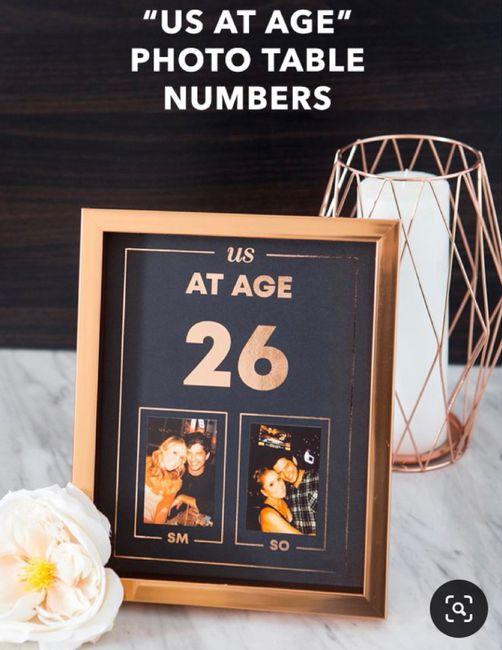 Numéro/Nom de table mariage 8