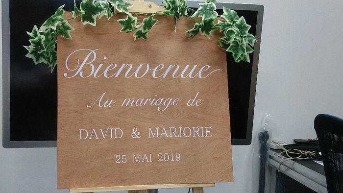 """Panneau """"bienvenue au mariage"""" : besoin de conseils 8"""