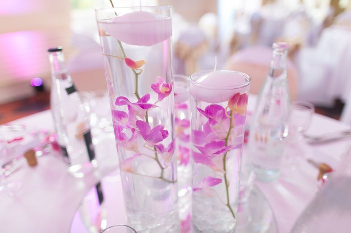 Centres de table avec fleurs immerg es d coration - Miroir centre de table ...
