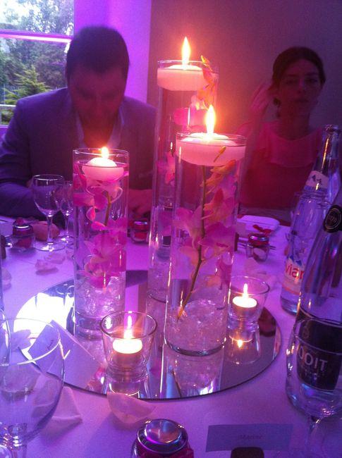 Centres de table avec fleurs immerg es page 3 d coration forum mariages - Bougies flottantes ikea ...