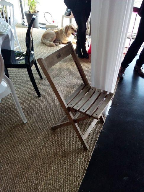 Location chaise en bois et coussin - 2