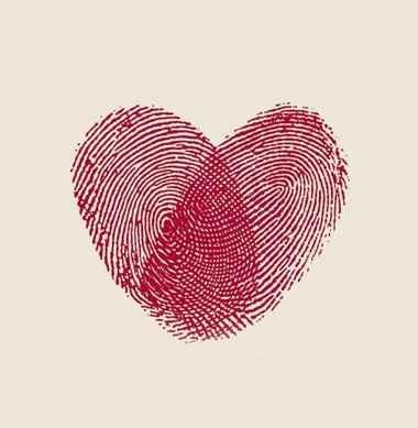 empreintes coeur